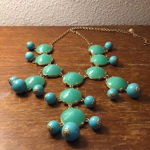 J. Crew turquoise-colored necklace